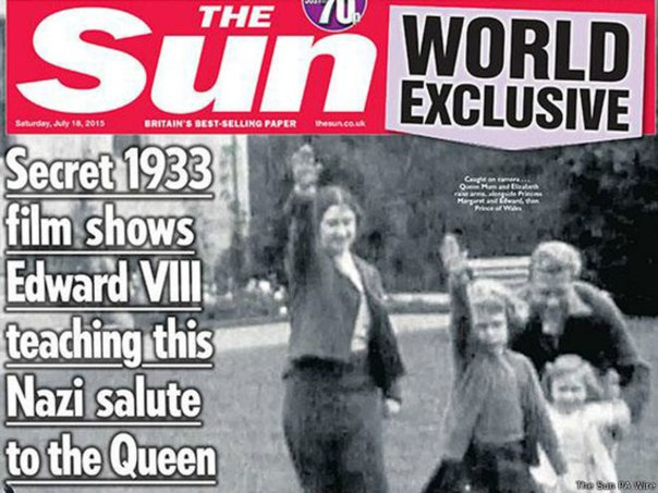 Queen with Hitler salute, I'm not surprised! 842035