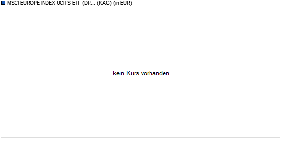 Performance des MSCI EUROPE INDEX UCITS ETF (DR) 2C (WKN DBX0PW, ISIN LU1184092051)