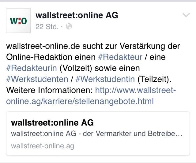wallstreet online forum