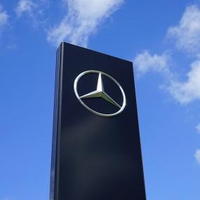 Der Mercedes-Stern, das Logo des Daimler-Konzerns.