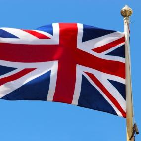 Die Flagge von Großbritannien.