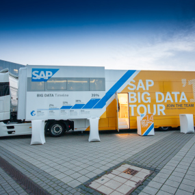 Ein SAP Big Data-Truck in Berlin.